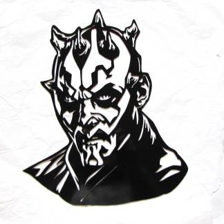 star wars darth maul metal wall art