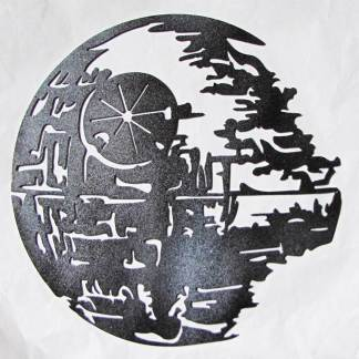 death star metal art