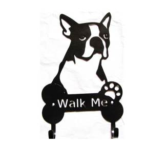 boston terrier metal leash hooks leash holder