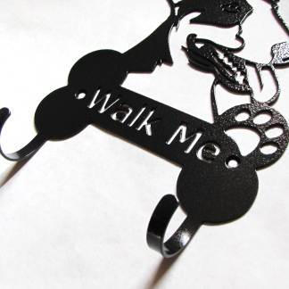 bullnose terrier metal leash hooks