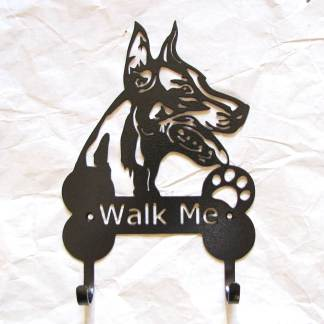 doberman metal leash hooks leash holders
