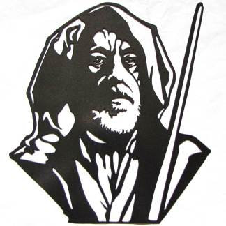 Star Wars Obi-Wan Kenobi Metal Art