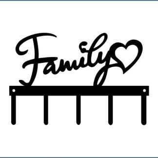 Custom Family w/Heart - 5 Hooks