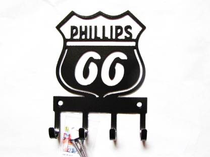 phillips 66 logo metal wall hooks, key holder