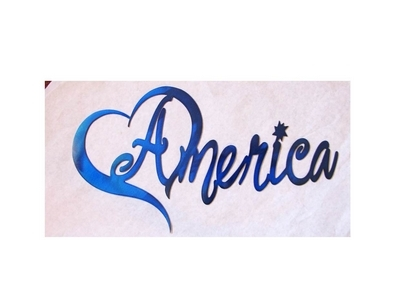 heart america metal wall art