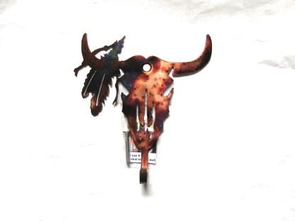 steer skull wall hook