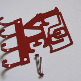 metal university of oklahoma love ou wall hooks