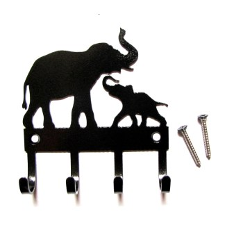 metal elephants wall hooks