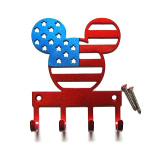 metal mickey american flag head wall hooks