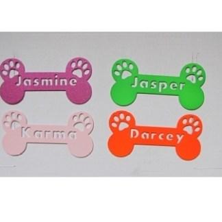 CUSTOM DOG BONE Name Tags