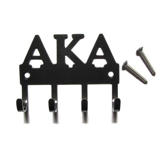 sorority alpha kappa alpha metal wall hooks