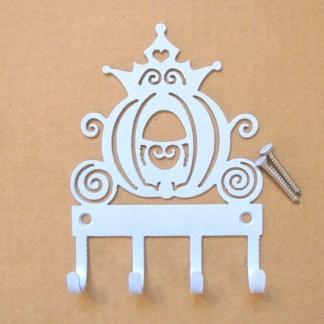 cinderella's carriage metal wall hooks