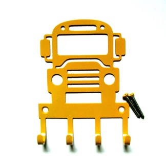 school bus metal wall hooks