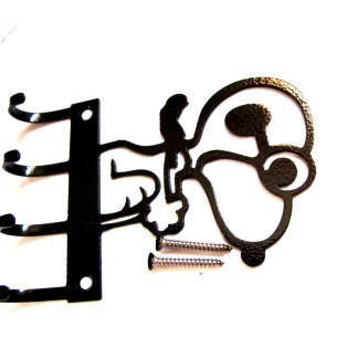 metal snoopy vs red baron wall hooks