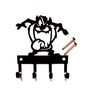 metal tazmanian devil wall hooks, taz key holder