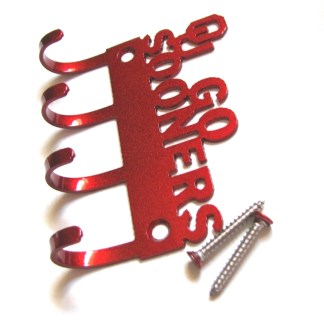 Metal OU Go Sooners Wall Hooks key holder