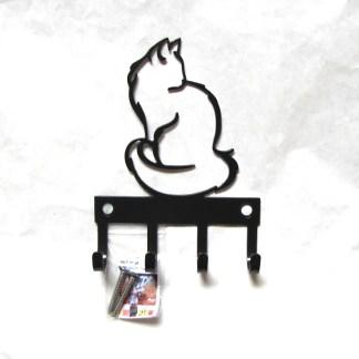 metal long hair cat key hooks, key holder