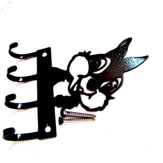 metal thumper wall hooks, key holder