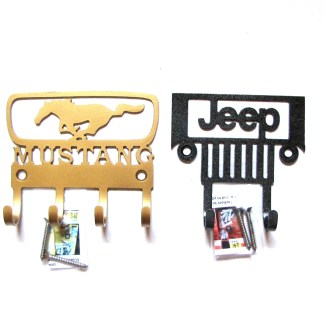 CUSTOM 2H Jeep and 4H 65 Mustang Wall Hooks
