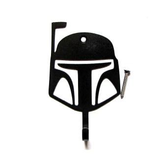 metal mandalorian helmet wall hook