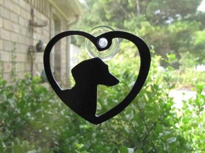 metal dachshund window art window ornament