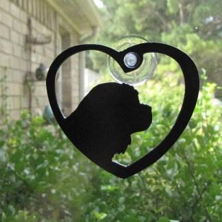 metal king charles cavalier spaniel window art window ornament