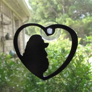 metal poodle window art window ornament