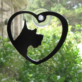 metal scottish terrier window art windodw ornament