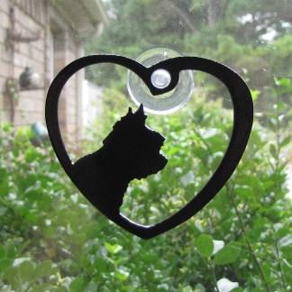 metal yorkshire terrier window art window ornament