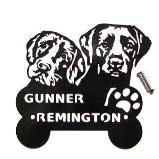 CUSTOM Labrador Gunner & Remington Wall Art