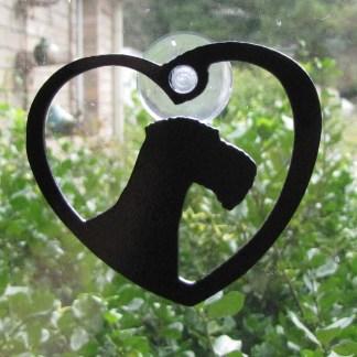 metal airedale window ornament window art