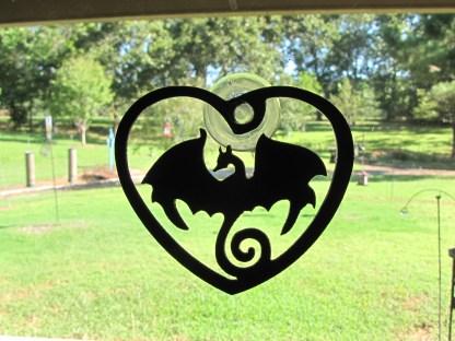 metal dragon window art window ornament