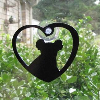 metal koala window ornament window art