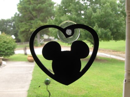 window art mickey mouse head
