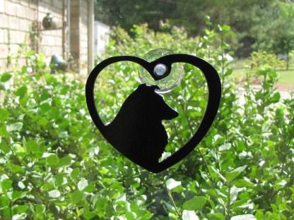 metal sheltie window ornament, window art