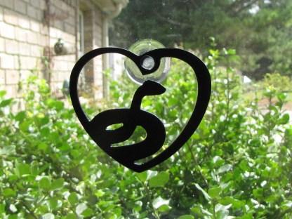 metal snake window ornament window art