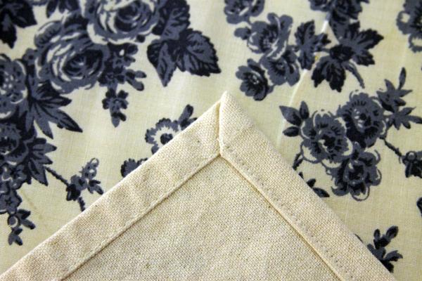 mitered corner on Moda toweling