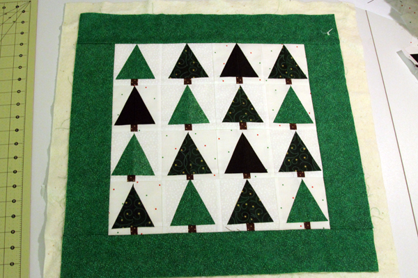 Block Four -- December -- Quilt as you Go