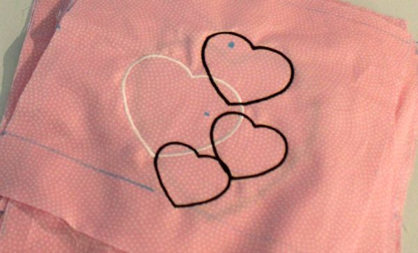 Embroidered Heart Blocks