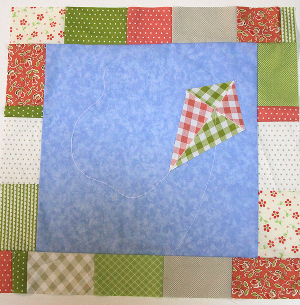 Block Seven -- March -- Quilt as you Go