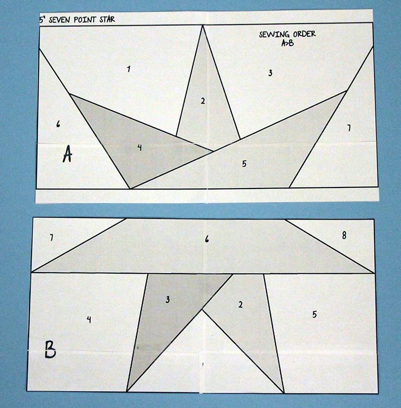 pieced star