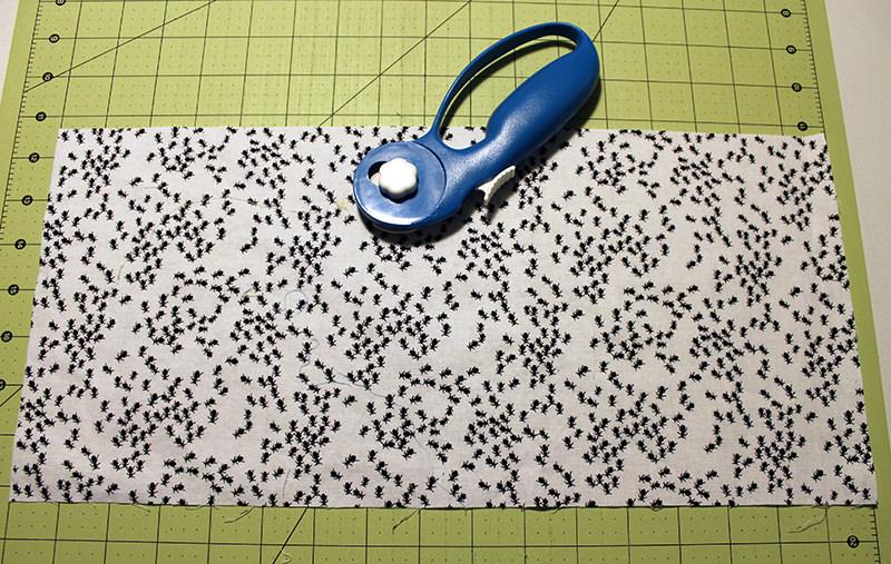 drawstring bag step 1