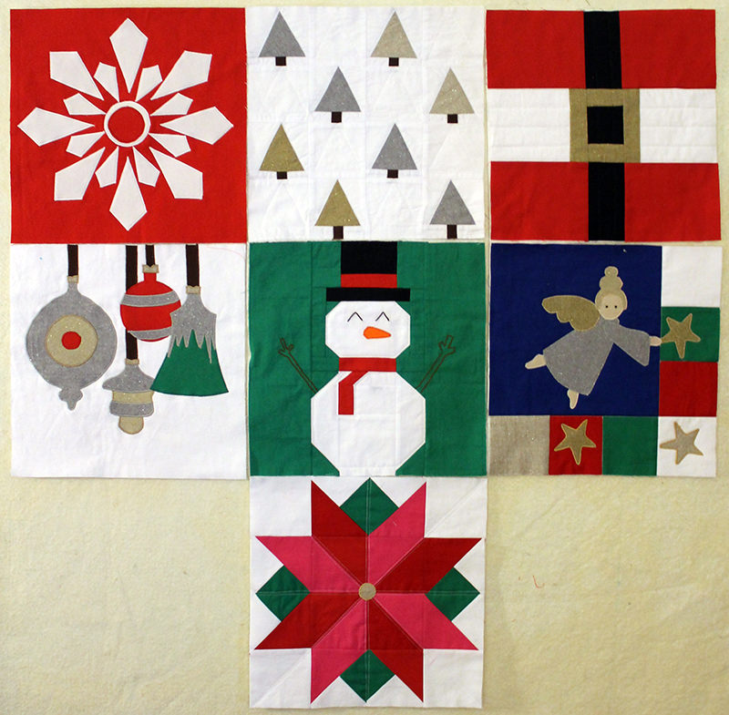 I wish you a Merry Quilt-long, block 7