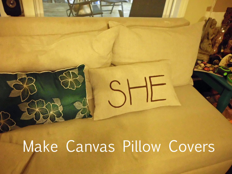 Make Canvas Pillow Covers SANY0517