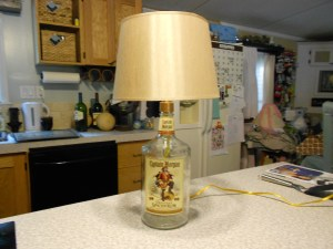 How to Make a Lamp with a Liquor Bottle 15