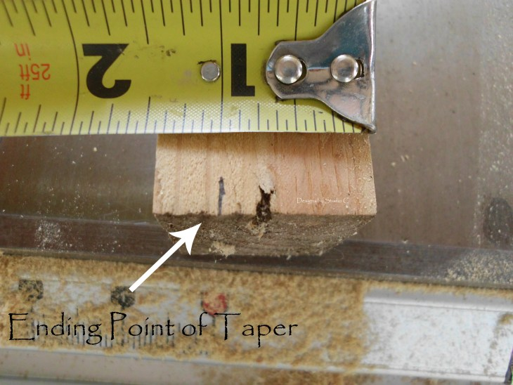 how to use a tapering jig on the table saw SANY1119