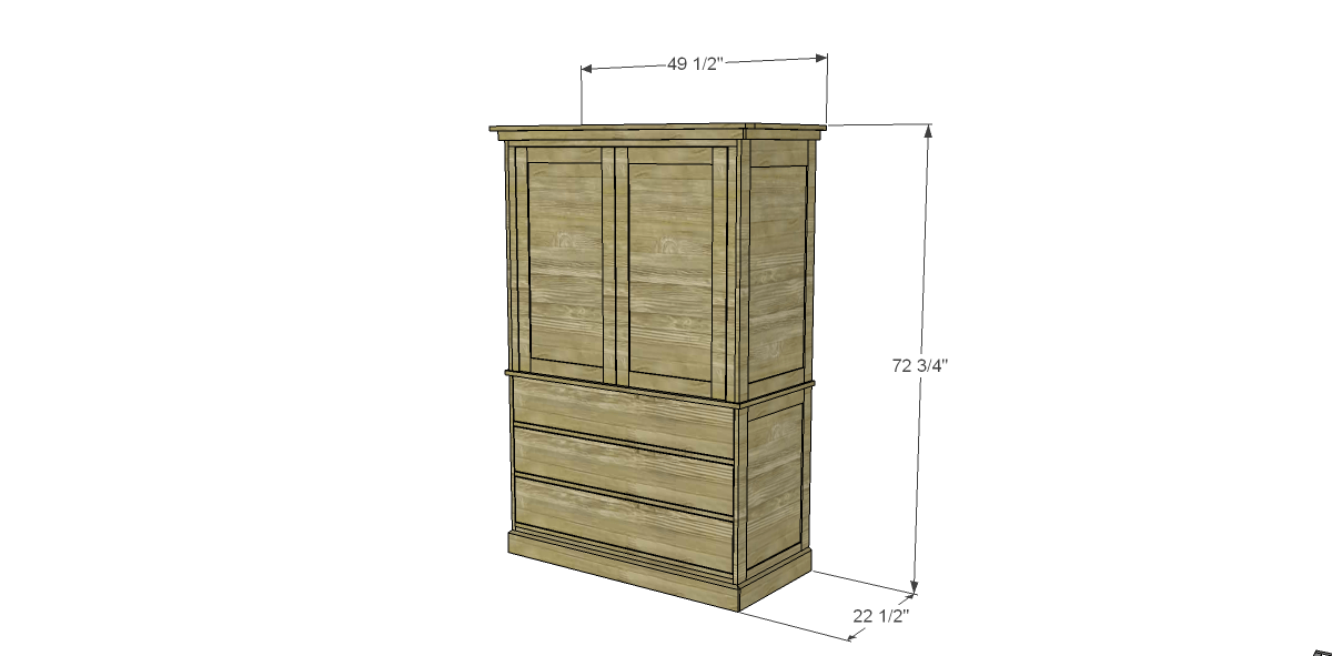 plans to build a two piece armoire designs by studio c. Black Bedroom Furniture Sets. Home Design Ideas