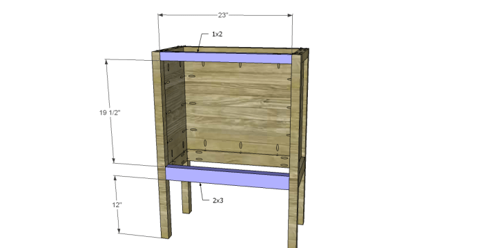 Free Plans to Build a Pier One Inspired Rivet Cabinet_Front Stretchers