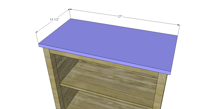 Free Plans to Build a Pier One Inspired Rivet Cabinet_Top