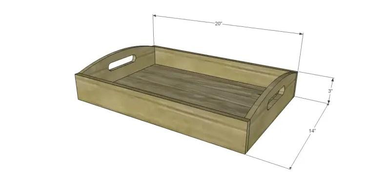 free plans to build frontgate inspired ellington trays. Black Bedroom Furniture Sets. Home Design Ideas